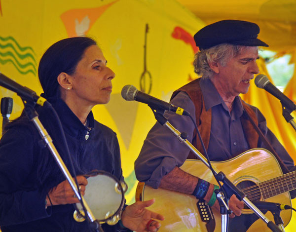 Livia and Bill Vanaver perform at the Clearwater Festival last summer. Photo by Jim Peppler.