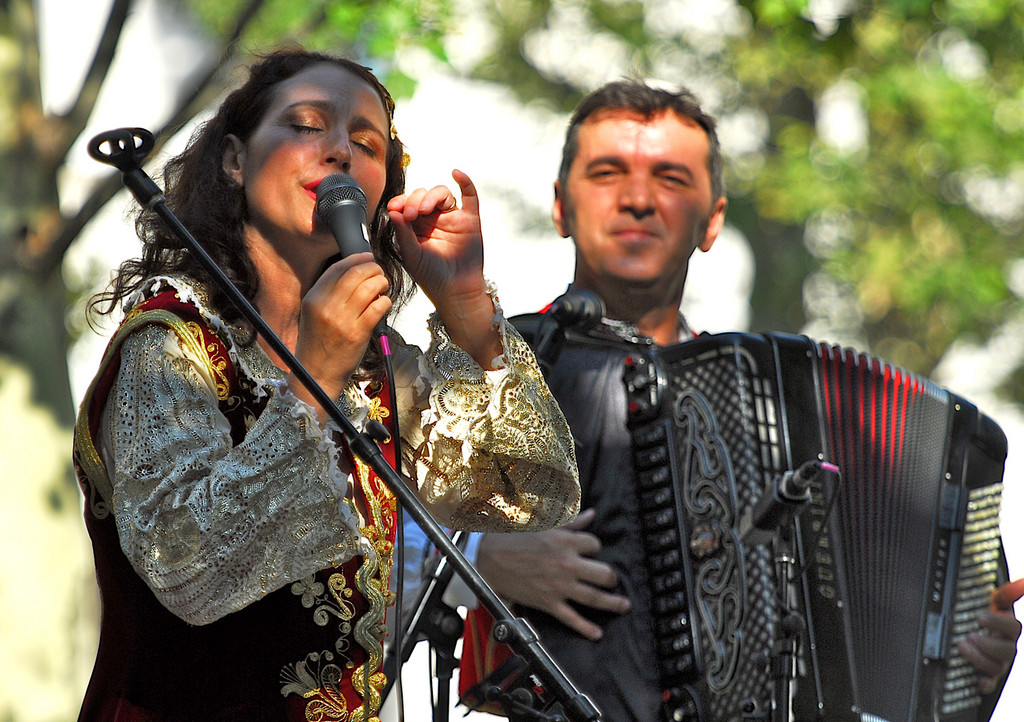 Albanian singer Merita Halili will perform with Raif Hyseni at the Balkan and East European Music Extravaganza on Sept. 7 at the Stone Ridge Orchard.