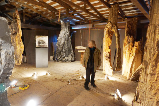 Gillian Jagger in a studio installation of her work
