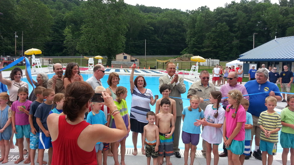 Last year's ribbon cutting and opening of the new Rosendale Pool, after a huge multi-year community fundraising effort.
