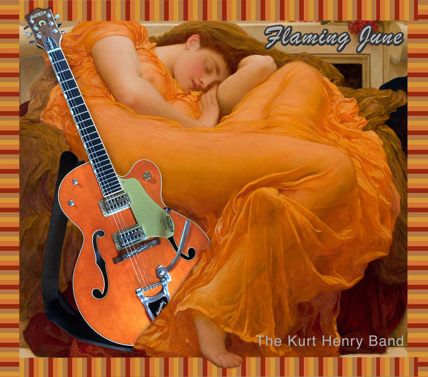 The CD cover for 'Flaming June.'