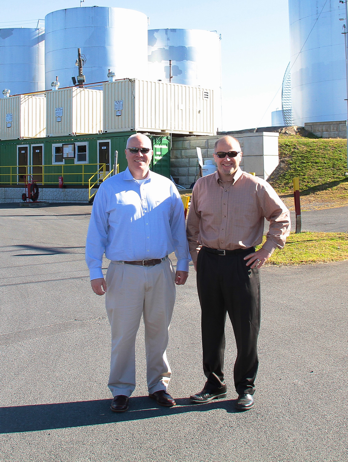 Patrick Garraghan and Ken Davenport at the Kingston Point Fuel Depot