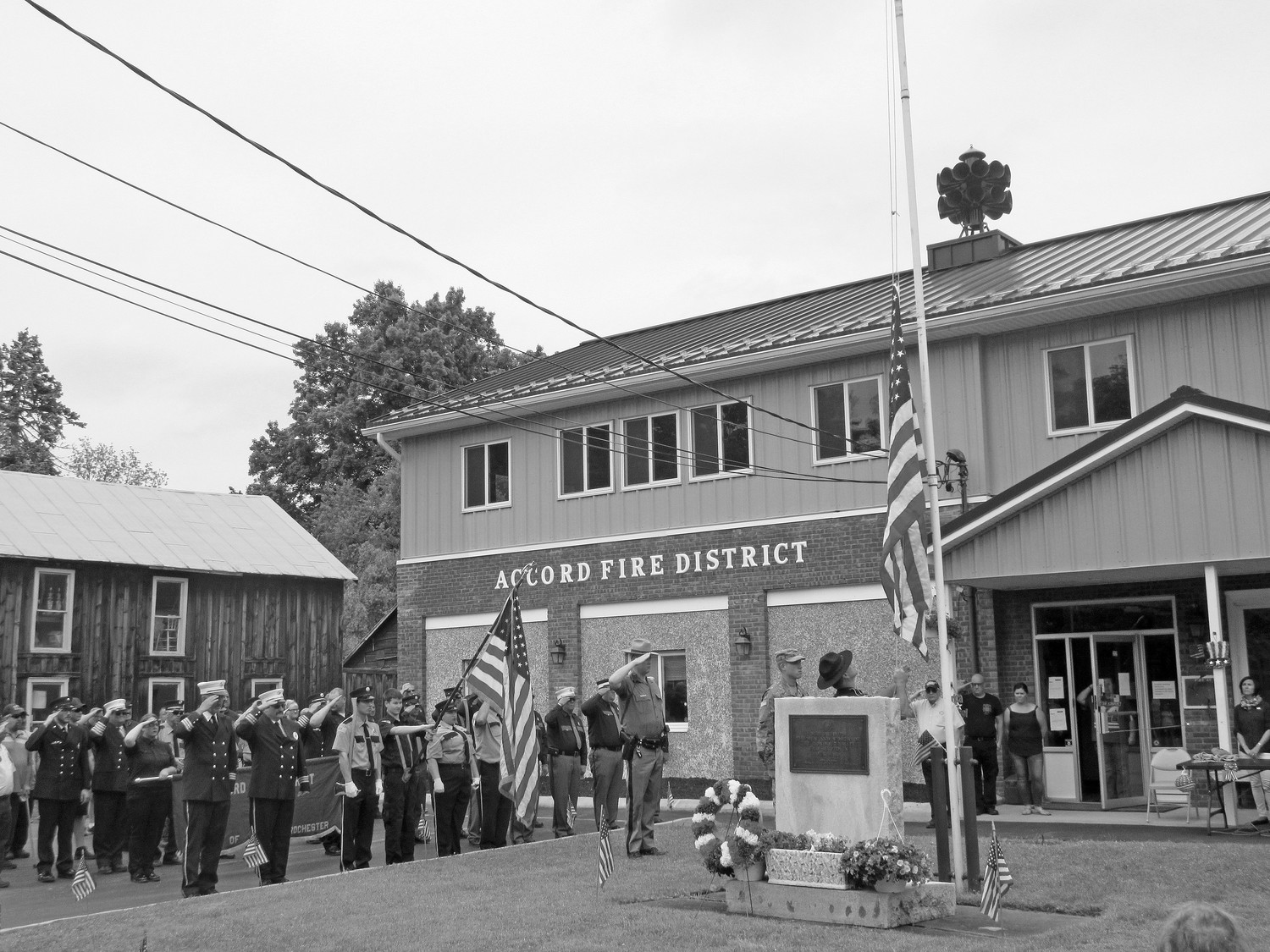 Ceremony at the Accord Firehouse (after the parade)