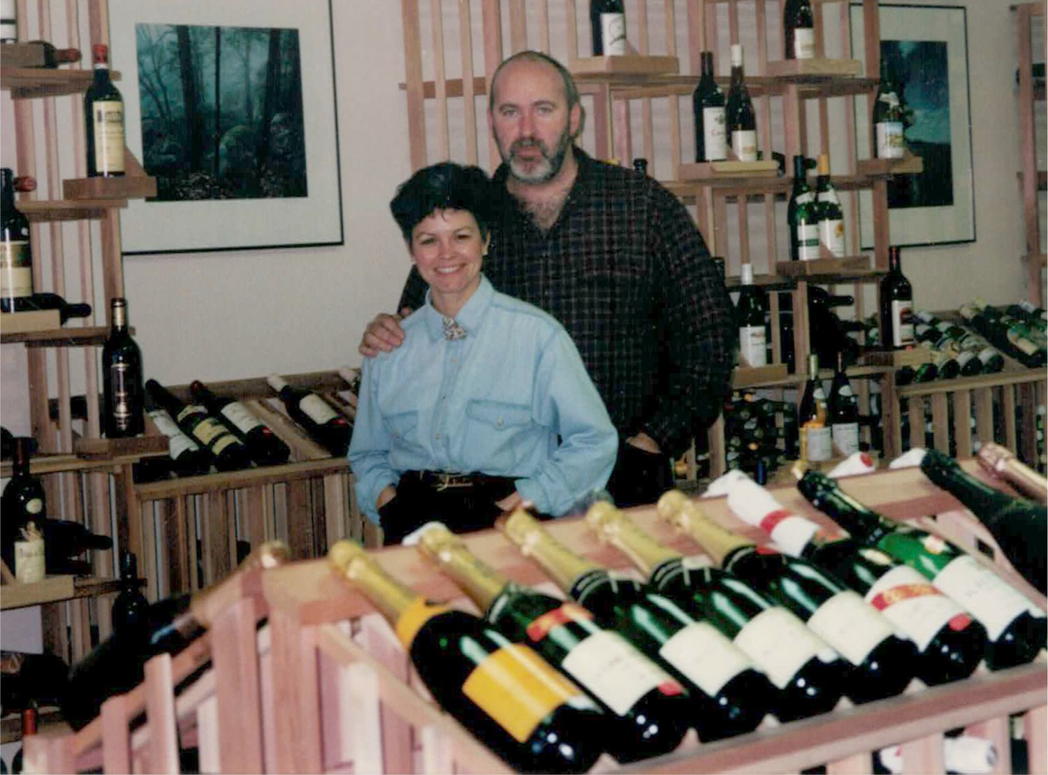 Vintage Tim and Laurel, pictured here on Stone Ridge Wine and Spirits opening day!