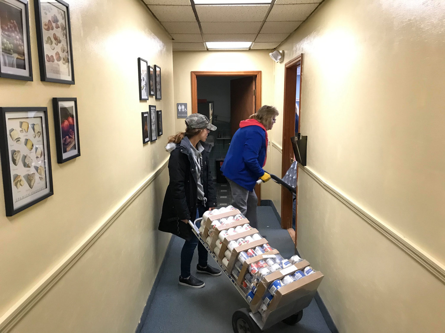 """We have mobilized on two fronts. First, we have been helping feed kids and deliver school food at the school buildings. Simultaneously, we have been helping the local food pantry hand out, unload, and deliver food. Last week alone, we helped feed over 800 families at the food pantry alone. Normal holiday times average 250-300, said Robert McDonough, RVF President and Social Studies Teacher at RVHS"