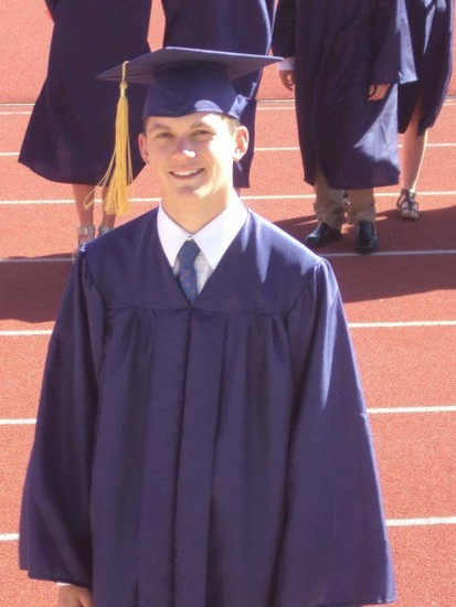 Allen Duke is seen here during his Chaparral High School graduation ceremony in 2012. Duke will be honored with a posthumous graduation at the Fort Lewis College commencement ceremony in April. His twin brother, Evan, will accept his diploma.