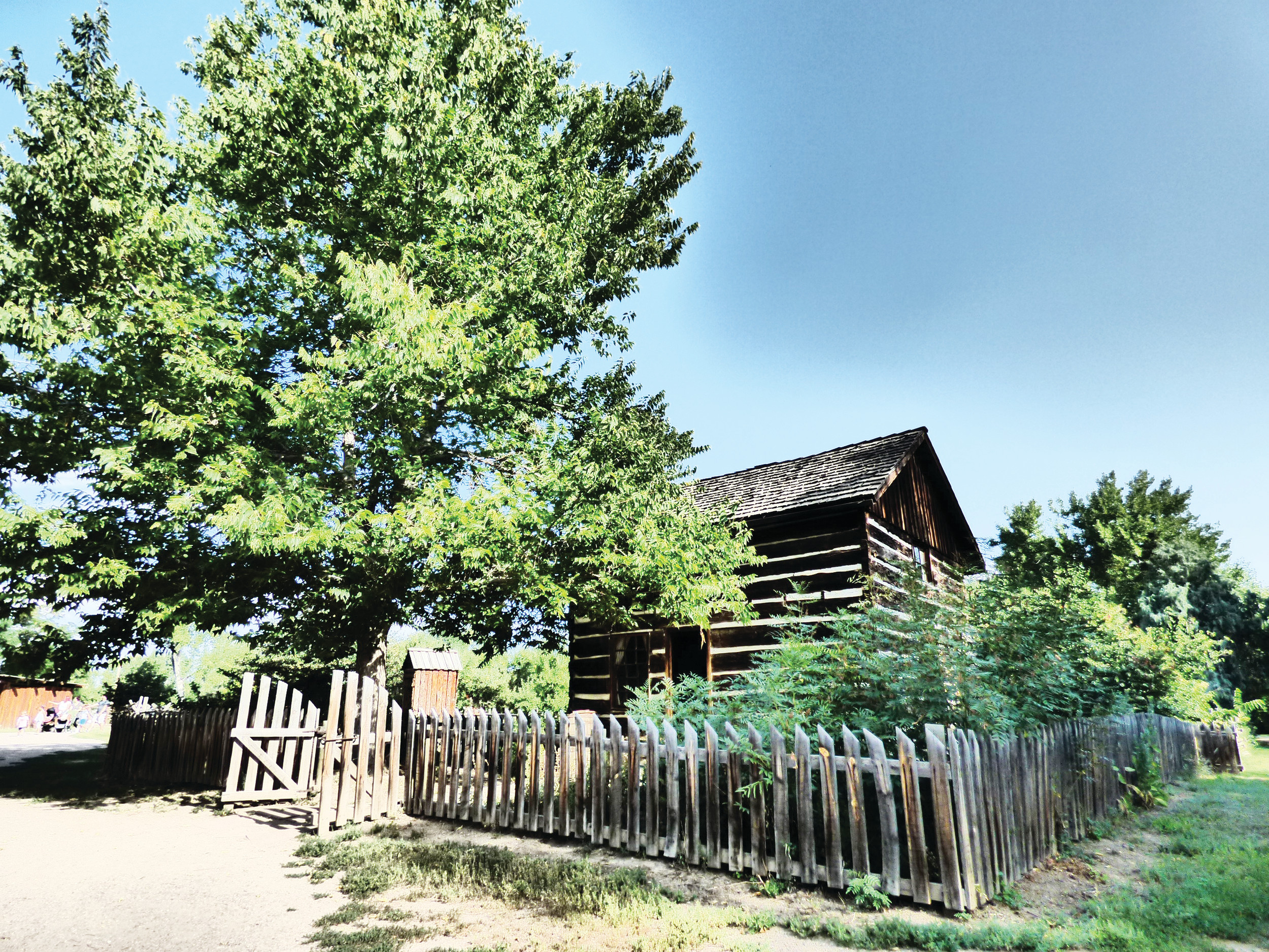 The McBroom Cabin at the Littleton Museum was once home to an early settler's family.