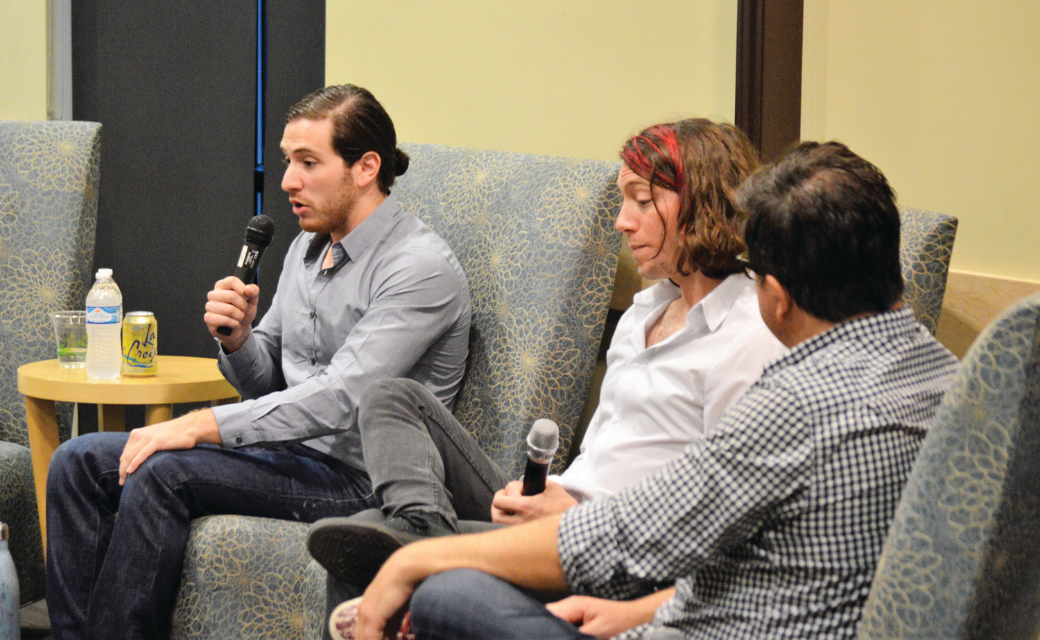 Alex Levine, of marijuana dispensary chain Green Dragon, Jesse Burns of Denver's Sweet Grass Kitchen and marijuana industry writer Richardo Baca led a panel discussion about careers in Colorado's cannabis industry Sept. 27 at Anythink Library at Wright Farms in Thornton.