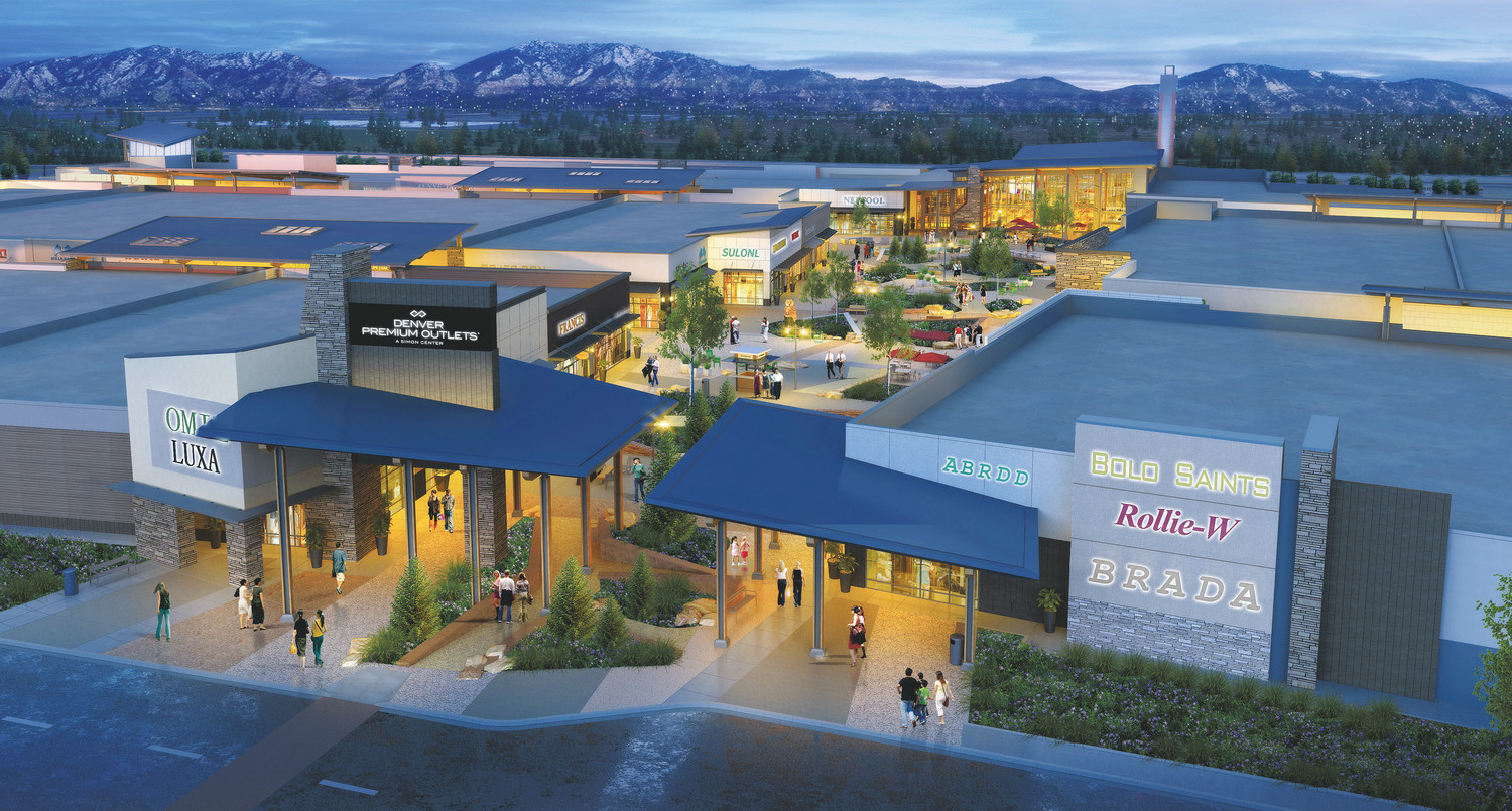An artist rendering shows what a new mall, at the northeastern corner of 136th Avenue and Interstate 25, will look like when it opens in the fall of 2018.