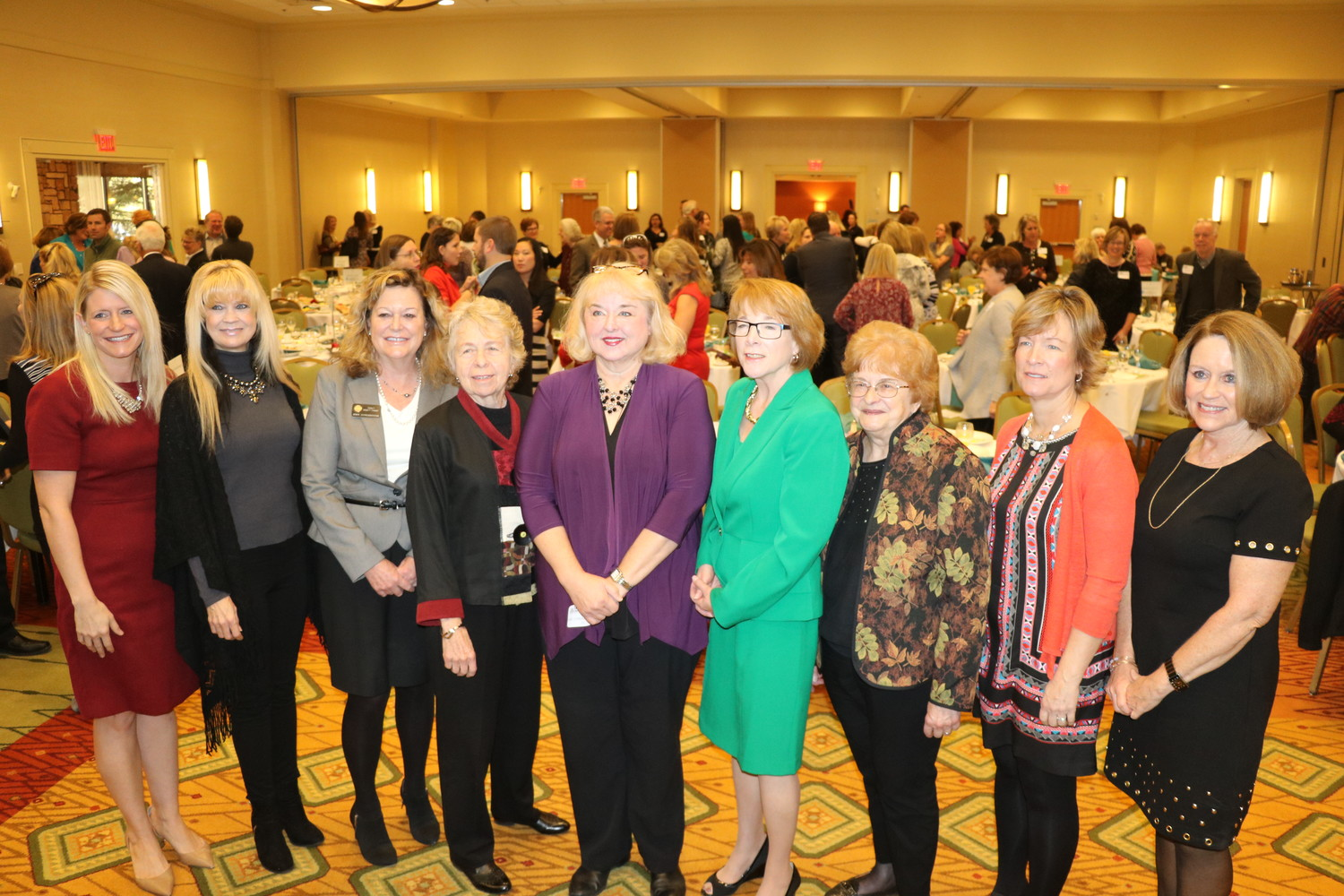 Jennifer Ryan, center, poses for a photo after being honored at the annual Celebrate Women of Jefferson County event on Nov. 17.