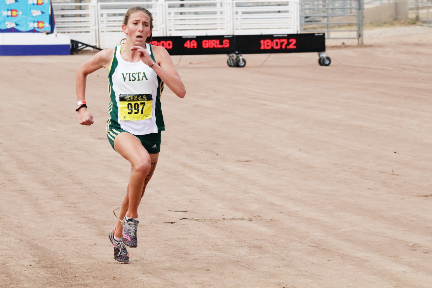 Mountain Vista's Jenna Fitzsimmons is the Colorado Community Media Girls Cross Country Runner of the Year. Photo by Tom Munds