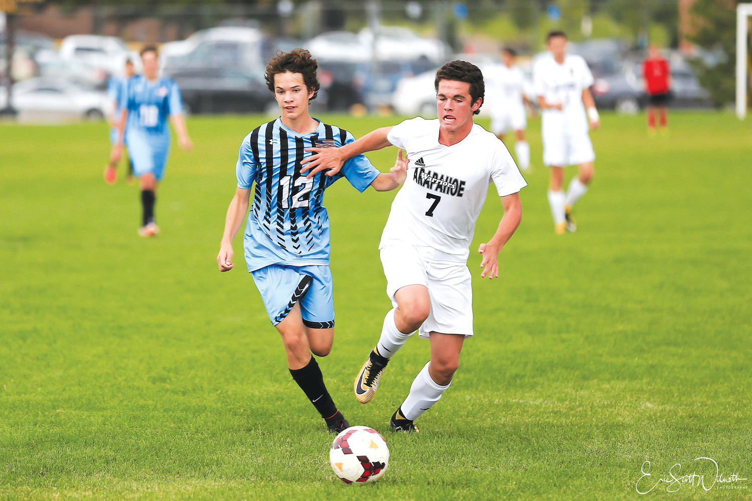 Arapahoe junior Cameron Gail, right, is the Colorado Community Media South Metro Boys Soccer Player of the Year.