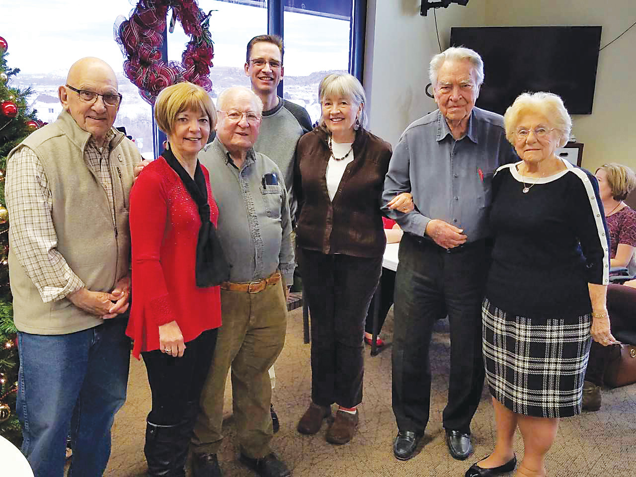 Members of the Douglas County Senior Foundation board of directors raise money each year to provide grants to local nonprofits serving seniors. From left to right: John Groom (treasurer), Sandy McCurdy (vice president), Bob Epstein (president), Brian Kirstein (secretary), Nikki Hoy, Al Wonstolen, and Marolyn Scheffel.