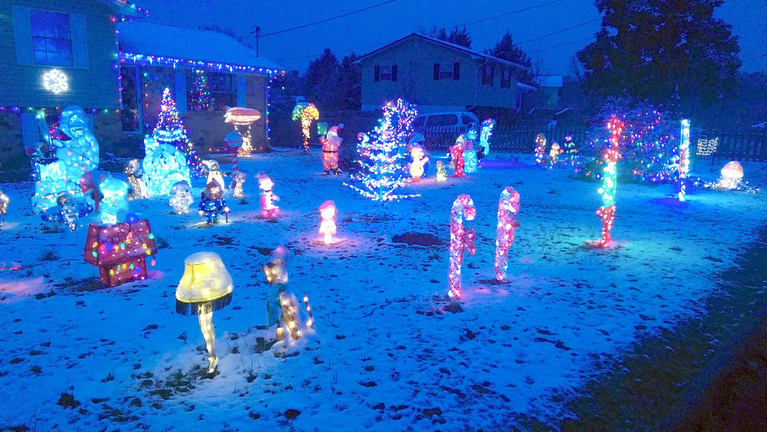 christmas lights the cleveland daily banner