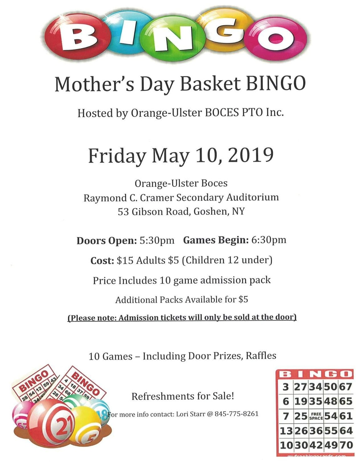 picture about Free Printable Mother's Day Games for Adults identify Moms Working day Basket Bingo My Hudson Valley