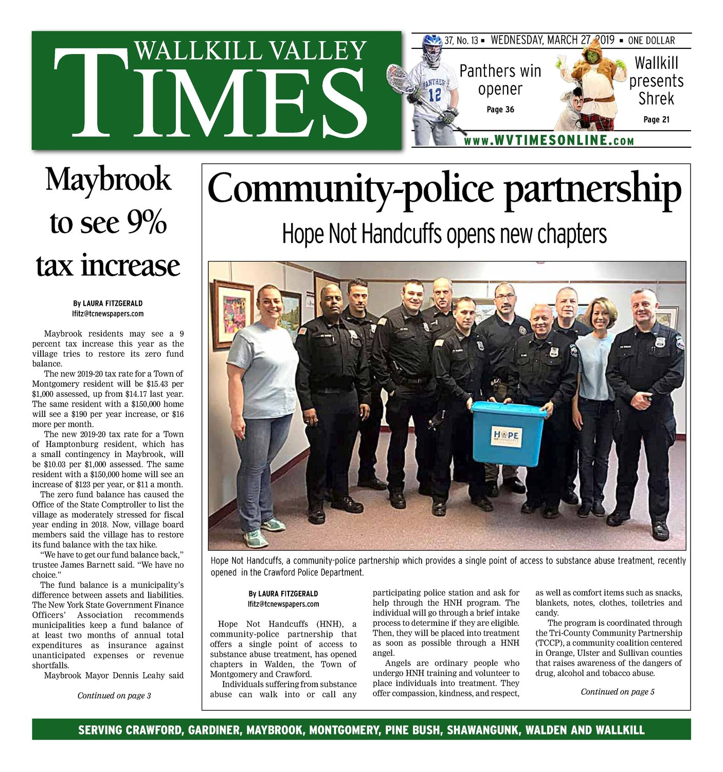 Wallkill Valley Times - March 27, 2019 | My Hudson Valley