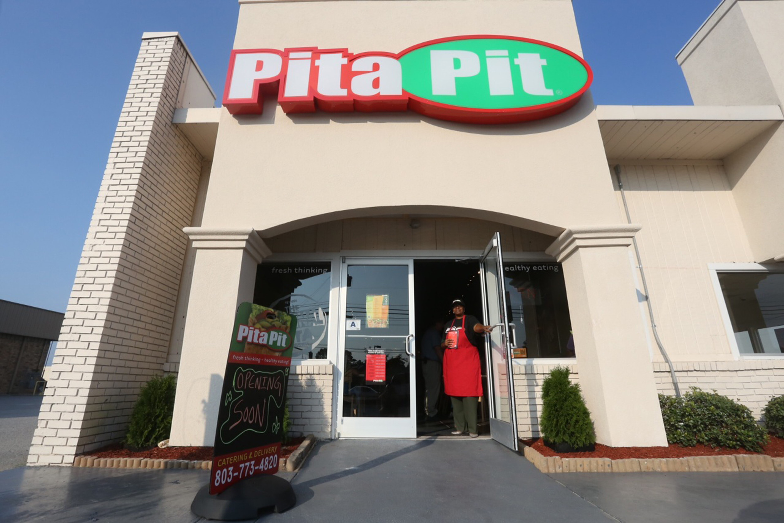 Pita Pit, 1029 Broad St., Suite B., is now open. The restaurant was supposed to open mid-June, but problems with construction set the opening back to Friday.