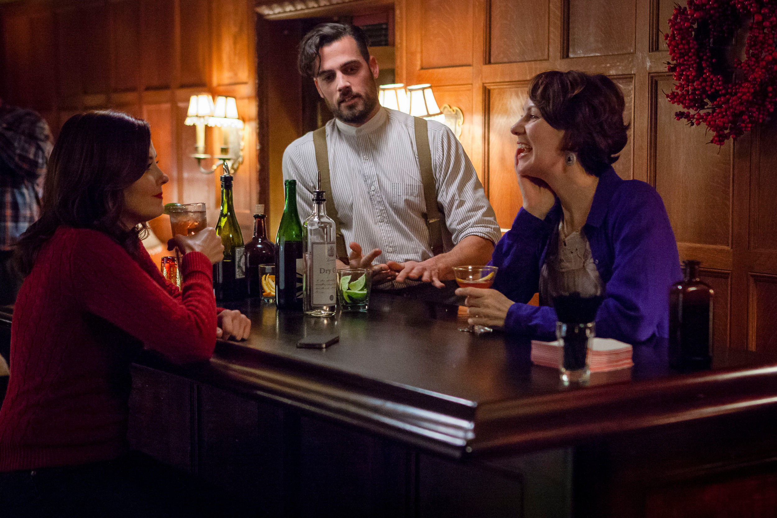 from left jen lilley thomas beaudoin and joanna herrington star in the spirit