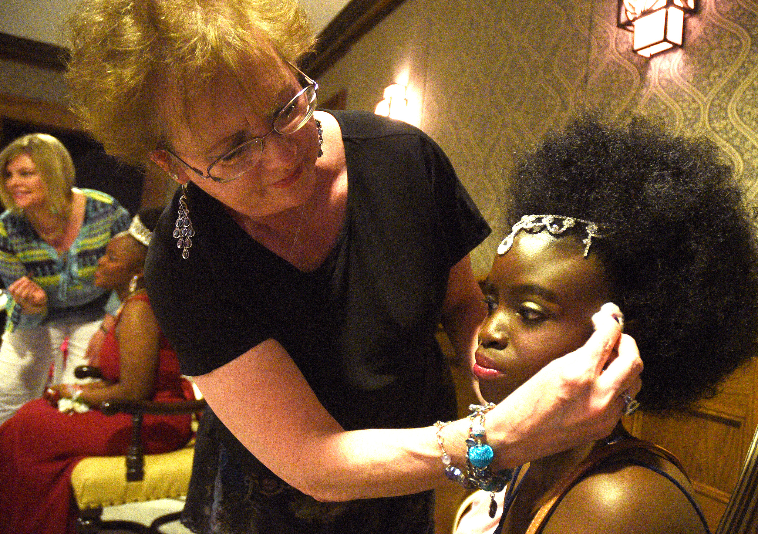 Jane Graham Applies Makeup To Natasha Thomas Before The Joy Prom On Friday Night The