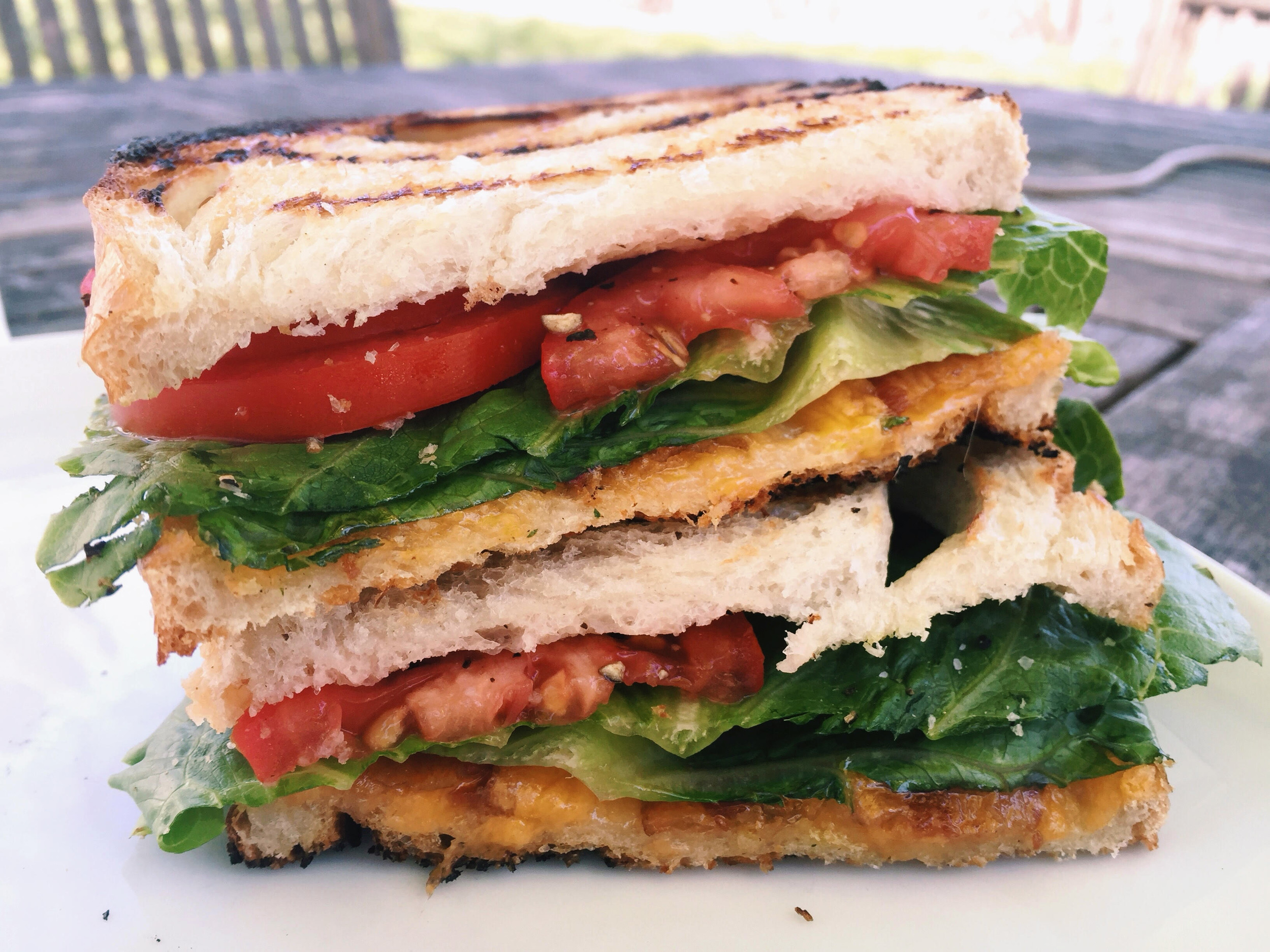 ... sandwiches, the BLT and the grilled cheese, come together as one