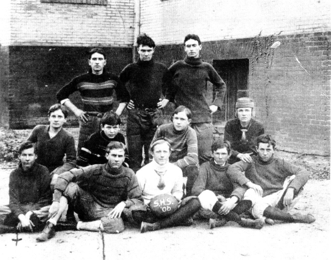 The Sumter High School 1906 football team is pictured in the school's yearbook.