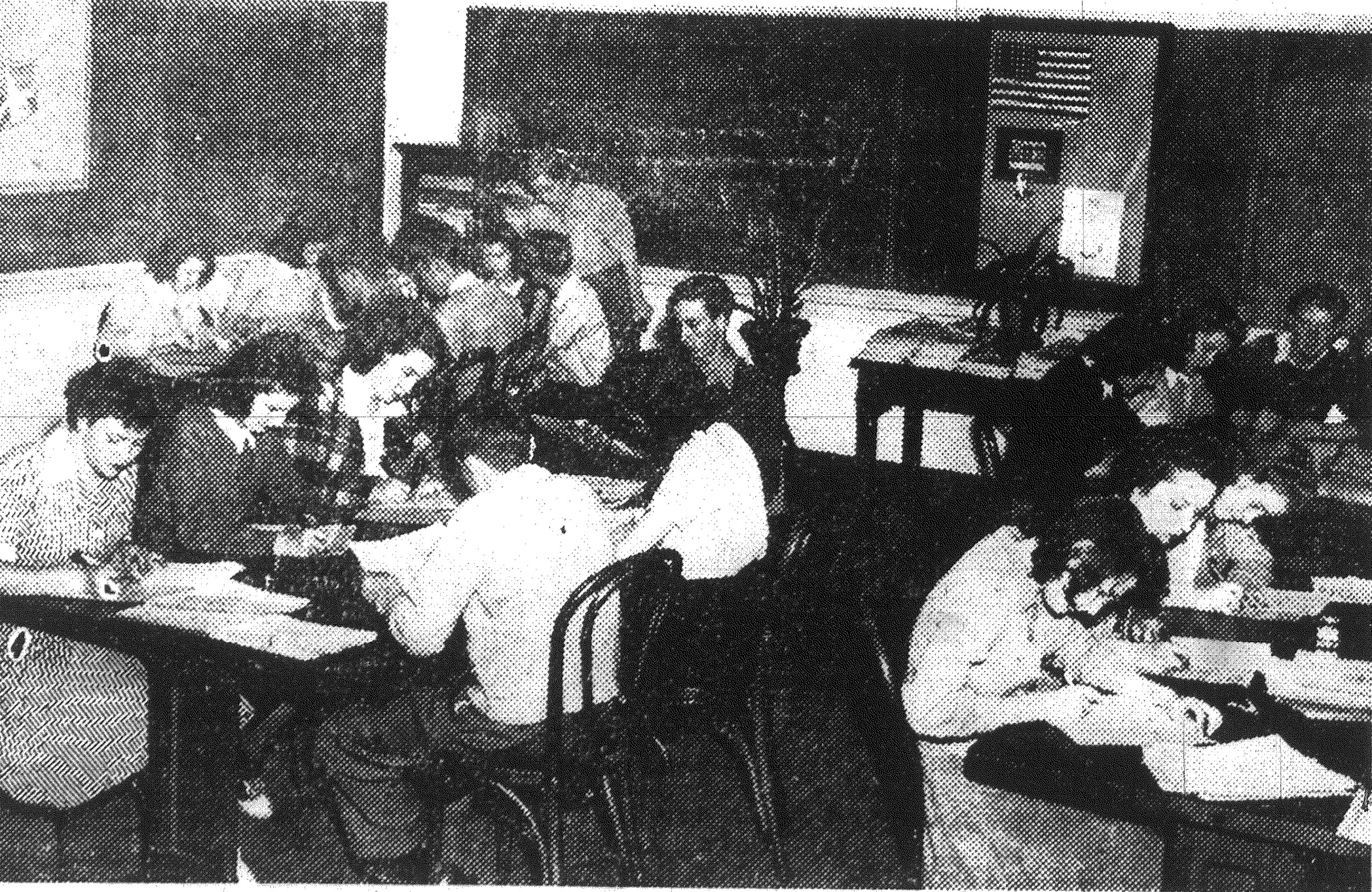 1942 - Pupils of Mrs. Pringle Brunson's modern problems class at Edmunds High School are shown hard at work in the local ration board office helping with kerosene and fuel oil registration. The board is in need of help, and the students have been of invaluable assistance.