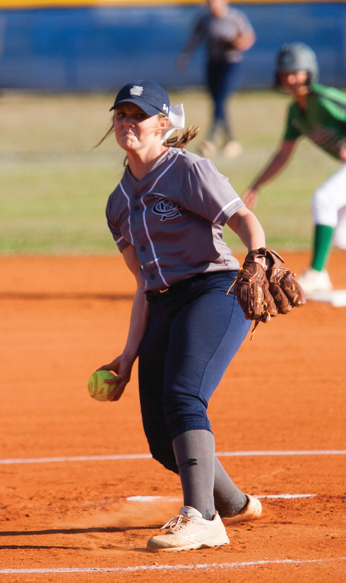 East Clarendon's Marleigh Floyd (6) delivers a pitch in the Lady Wolverines' 4-3 victory over Dixie on Wednesday in Turbeville that gave EC the 1A softball state title.