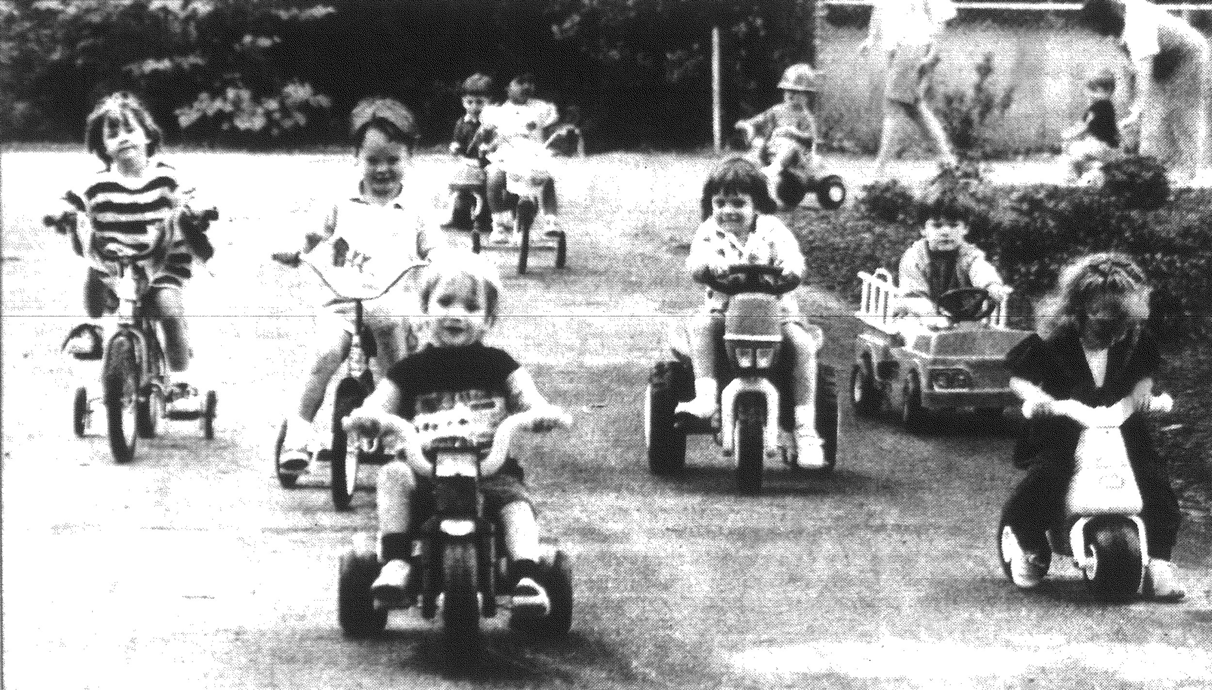 1992 - Two-year-olds at First Presbyterian Church participated Tuesday in their first Riding Toy Parade, according to teacher Mary Garland Roddey.
