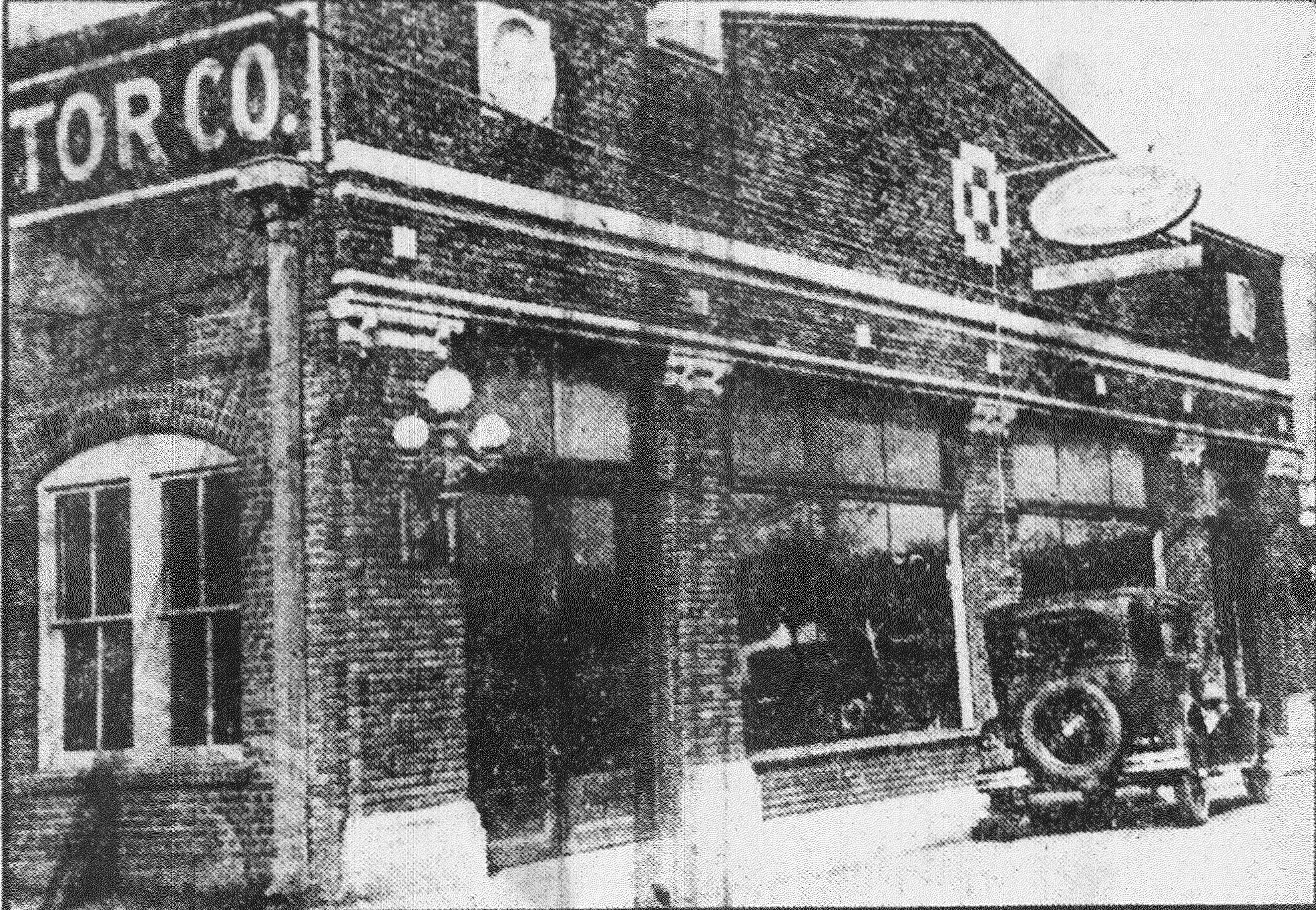 H.C. Bland's automobile dealership is seen in the early 20th century. He sold Fords for about 30 years.