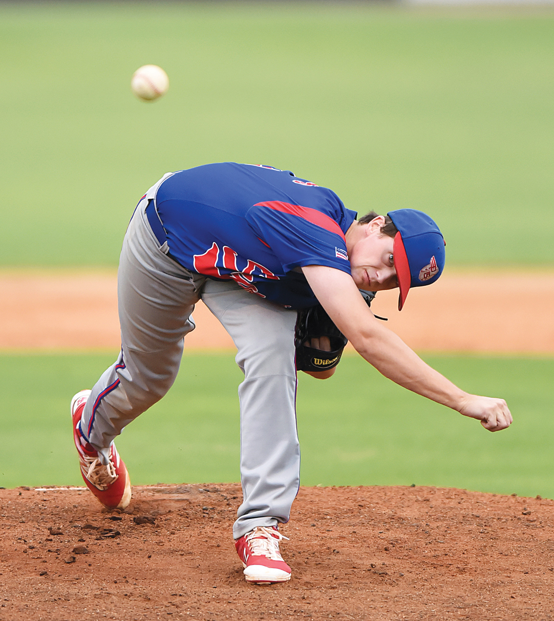 Sumter pitcher Lathan Todd tossed a 4-hit, 8-inning shutout in the P-15's 10-0 victory over Camden on Tuesday at Riley Park. Todd struck out 12 batters and walked none.