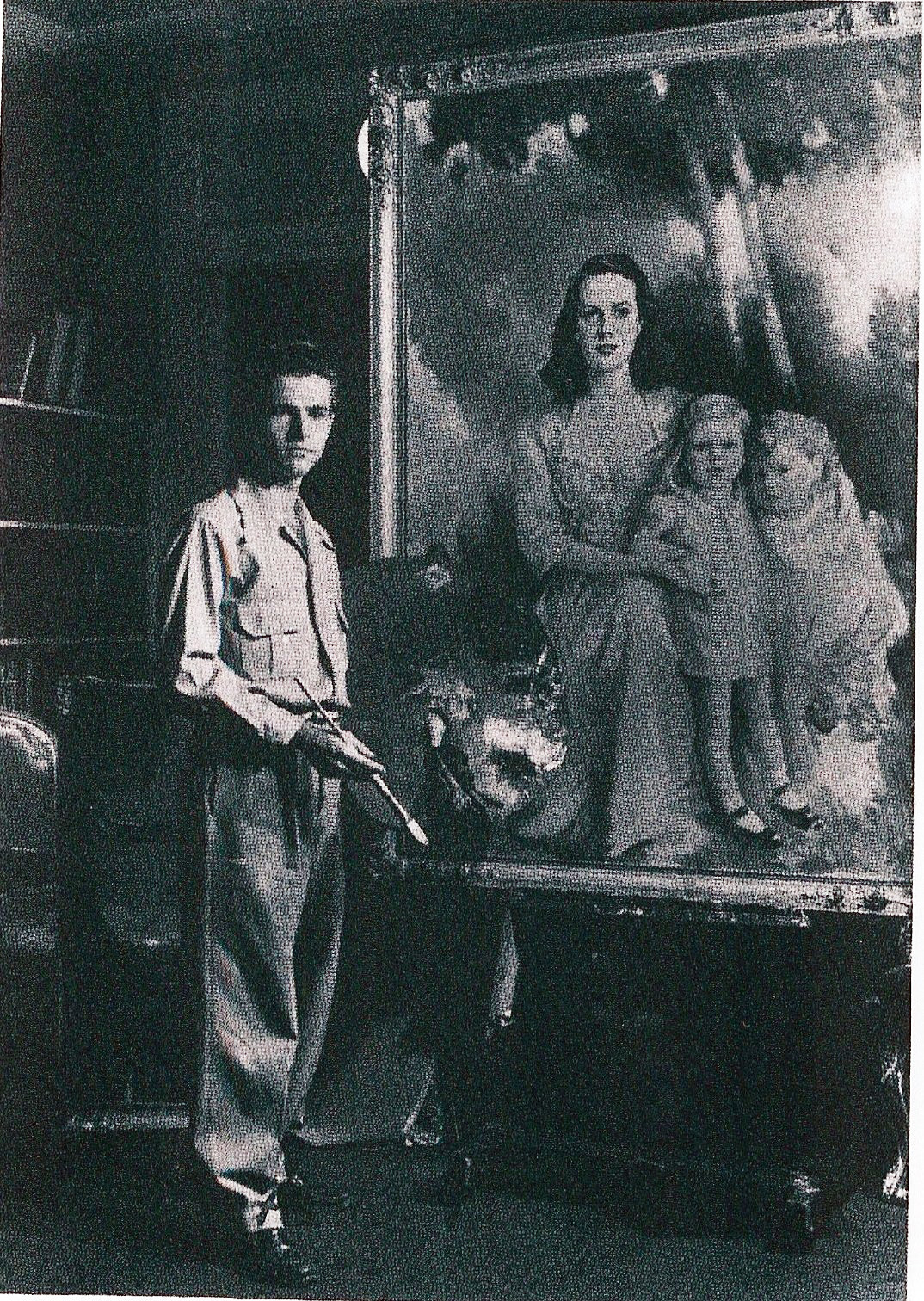 Artist Charles Mason Crowson, grandson of C.T. Mason, is pictured.