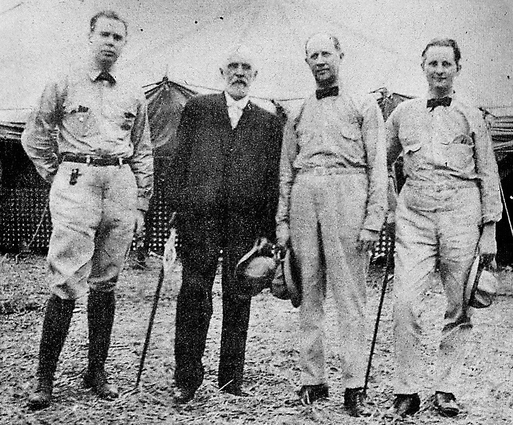 Sumter's most successful inventor, C.T. Mason Jr., second from left, is shown with U.S. Army aviators during World War I when Mason's magnetos were widely used in military aircraft. Mason inherited his father's inventive genius but unlike his father, was able to enjoy greater recognition and monetary rewards from his talent.