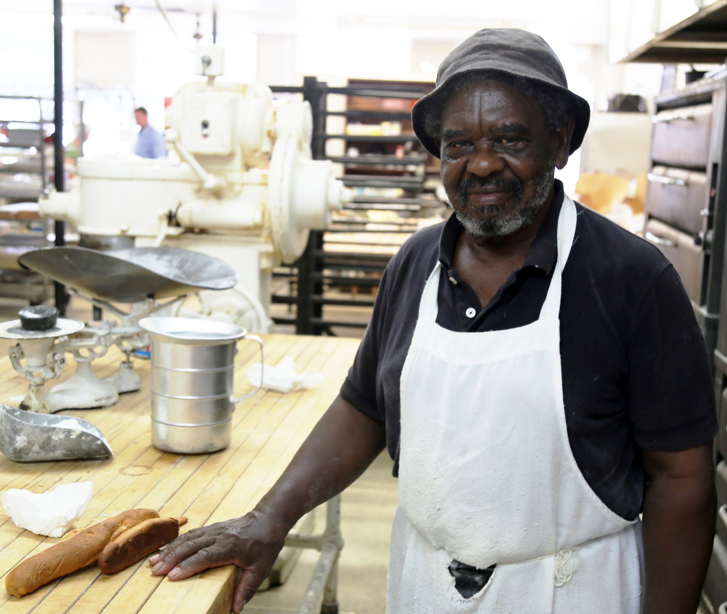 Bobby Robinson, 71, has been working at Perfection Bakery for 50-plus years and advises new fathers to encourage their children to work hard and follow their passion.