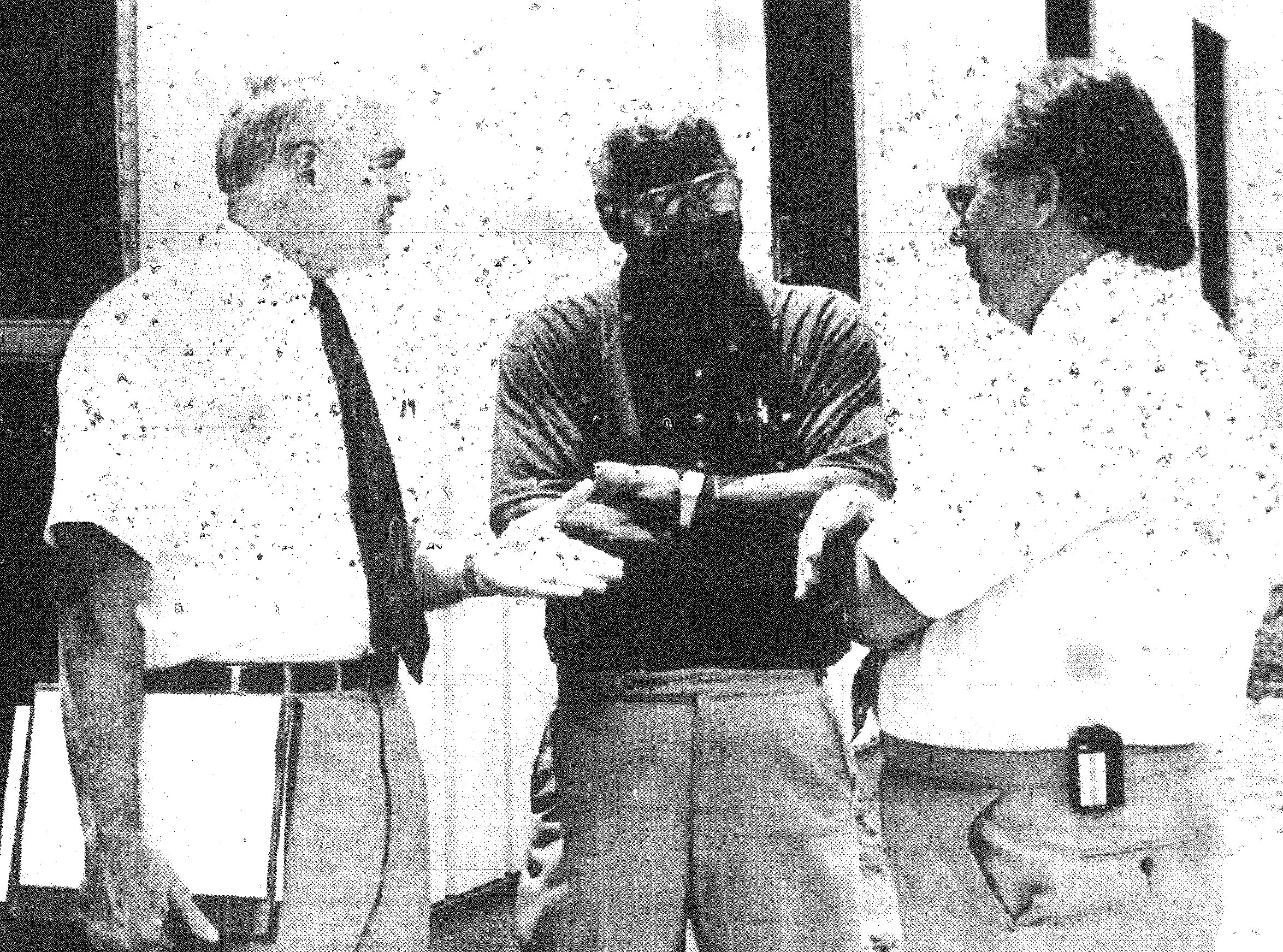1992 - From left, Sumter County Councilman Chuck Fienning, Sumter Jail Population Committee Chairman Earl Vaughn and Sumter County Correctional Center Director Jerry Hyatt discuss the construction of a 7,500-square-foot addition to the Sumter County Jail. The addition is scheduled to open Sept. 1.