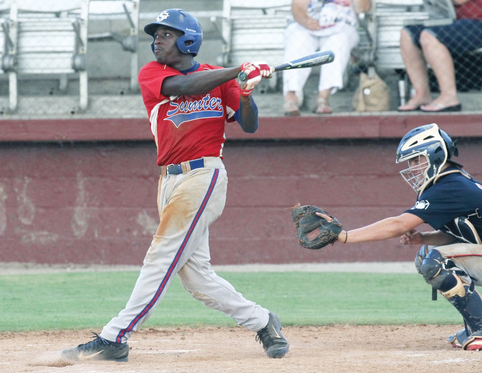 Sumter's Trey Yates, left, and the rest of the Junior P-15's earned their way into Saturday's Junior Legion state tournament in Spartanburg. Sumter will face Aiken at 9:30 a.m. at Duncan Park.
