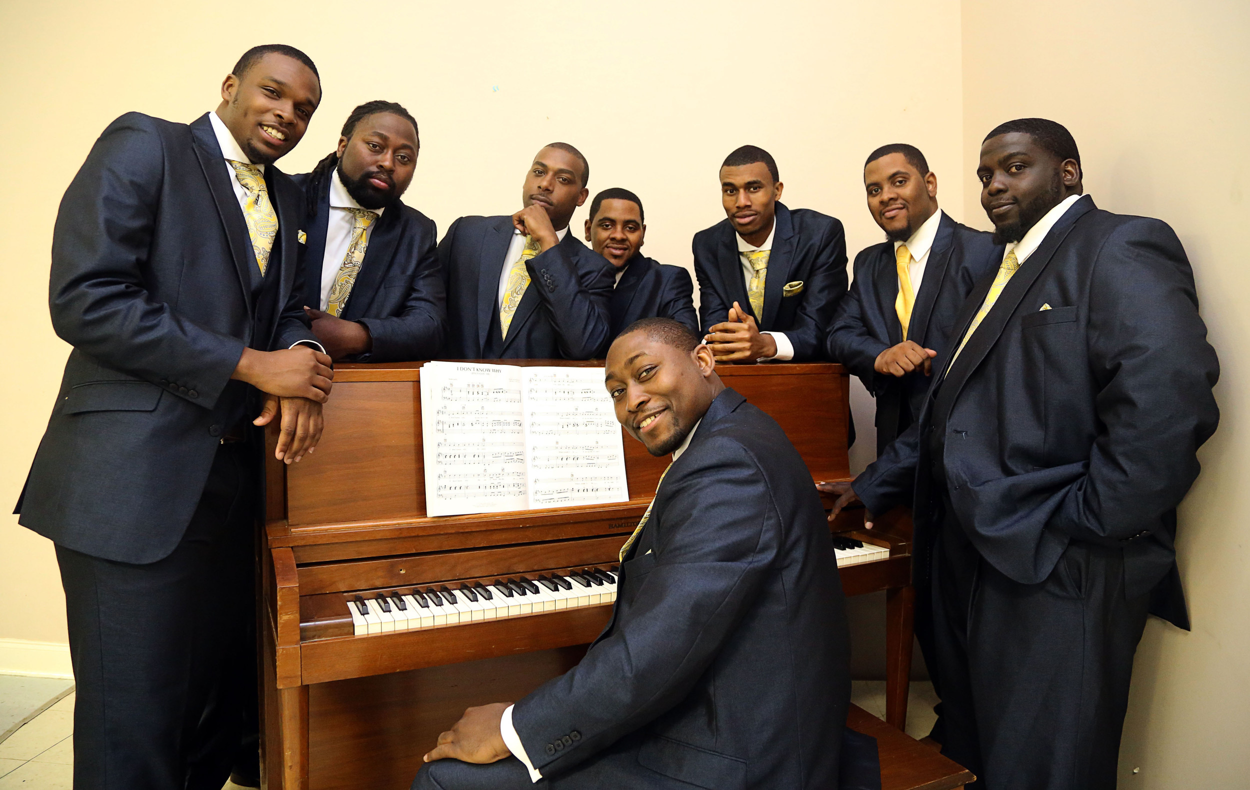 Elijah Bradford, at piano, and The Valentinos will offer their signature Motown-sound gospel during the Coffee House Revue at Salem Missionary Baptist Church.