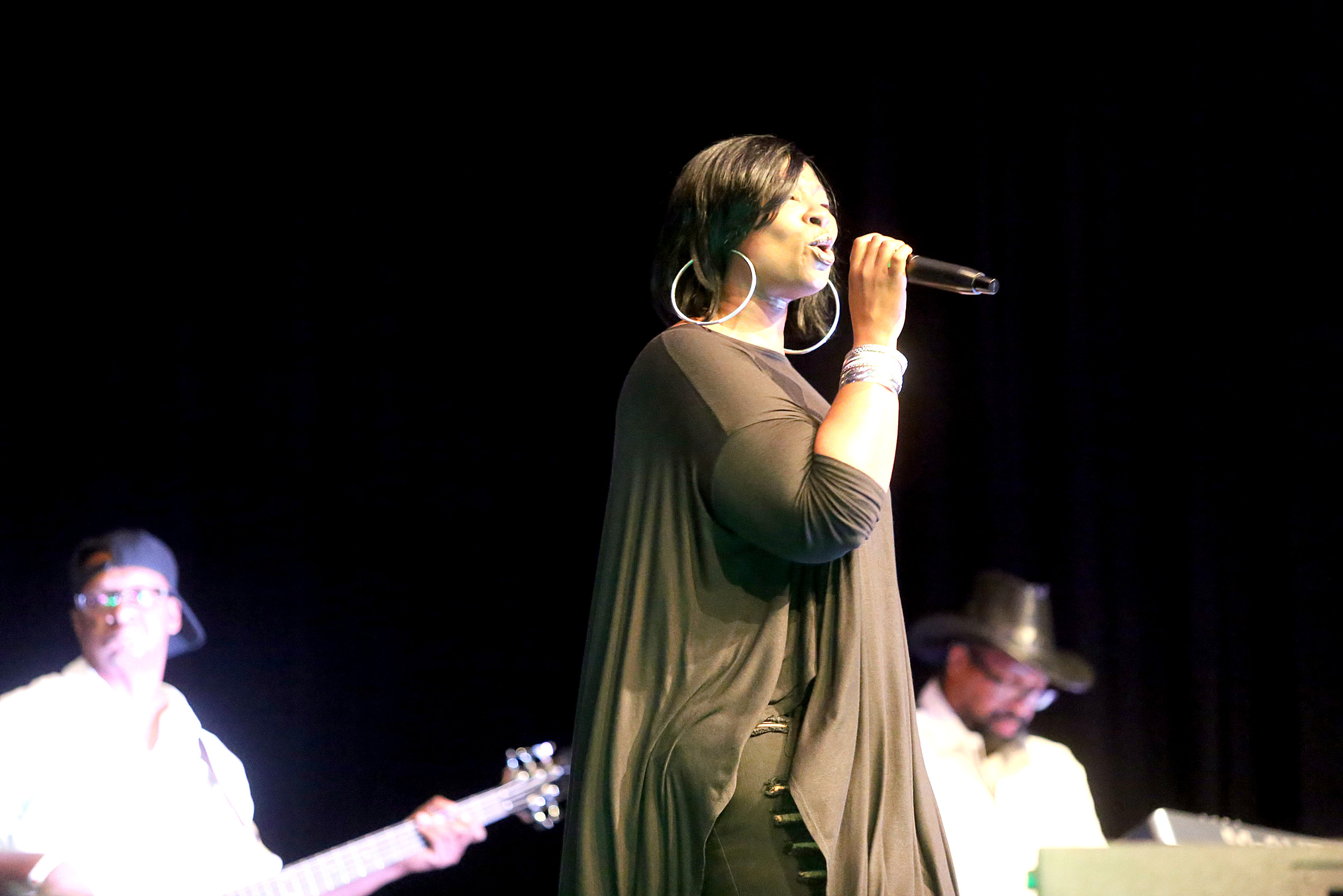 Artist Nacole opened the show for the first Sumter Soul Fest at the Sumter County Civic Center on Saturday night. Nacole was one of seven artists to take the stage. Organizers for the event were Jesse Redmond, Shavonka Redmond, Brandie Harrell and Stearles Moye II.