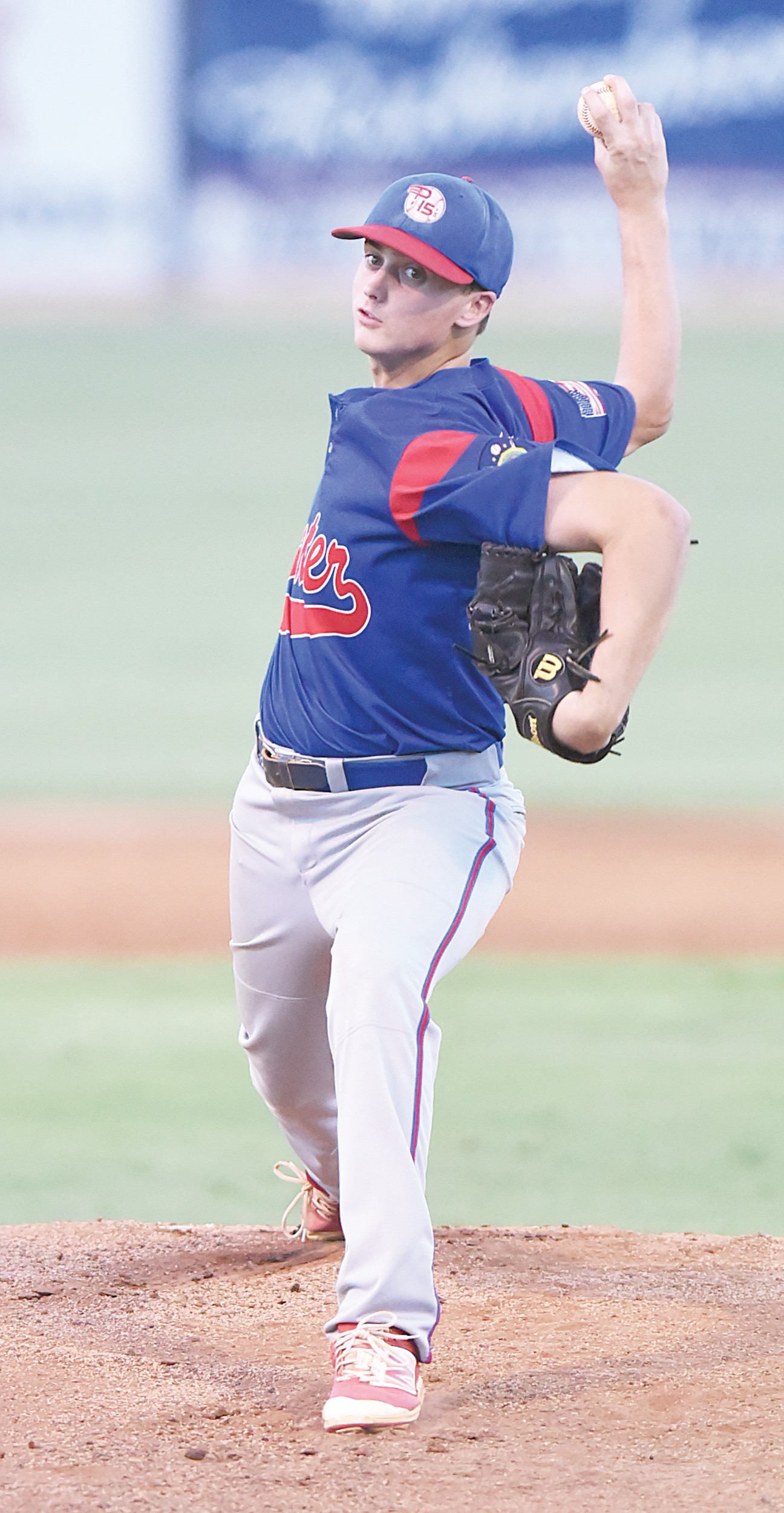 Lathan Todd will be on the mound for the Sumter P-15's when they open the American Legion state tournament against Gaffney at 7 p.m. on Saturday at Riley Park.