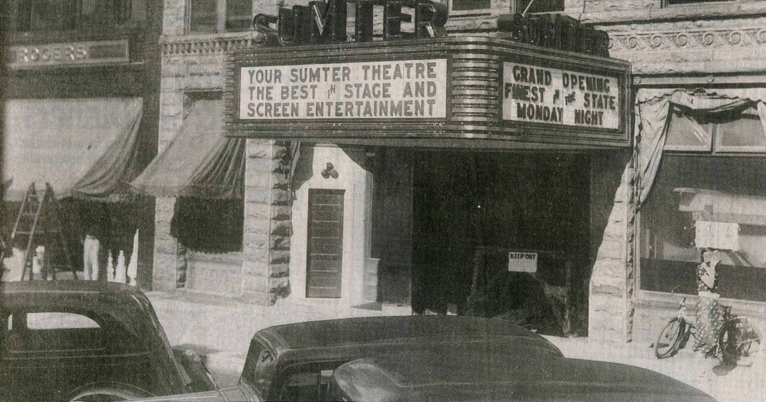 The Sumter Opera House opened Aug. 31, 1936, as The Sumter Theatre, one of the finest movie theaters in the South.
