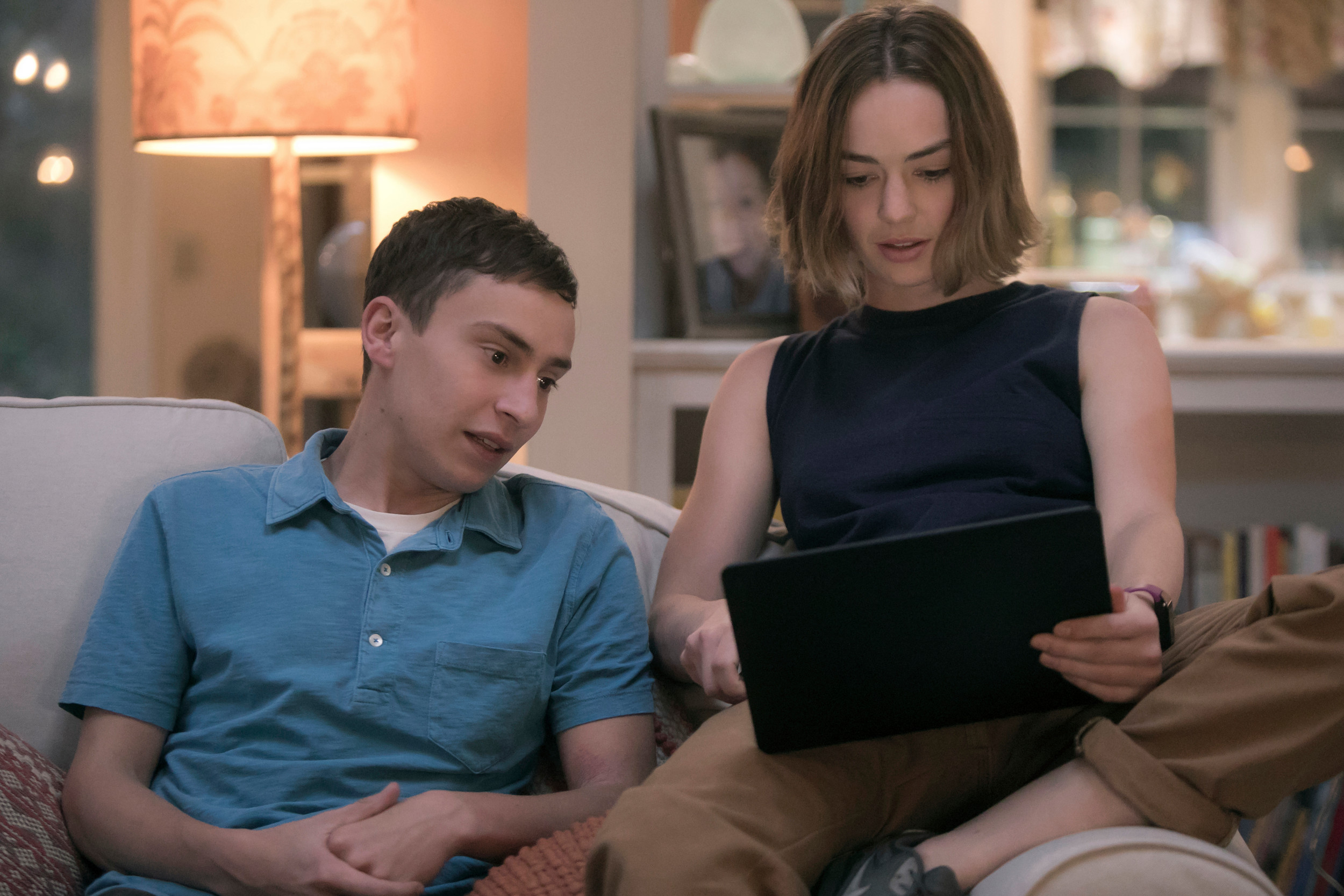 "Keir Gilchrist stars as Sam and Brigette Lundy-Paine as his sister, Casey, in ""Atypical,"" now streaming on Netflix."