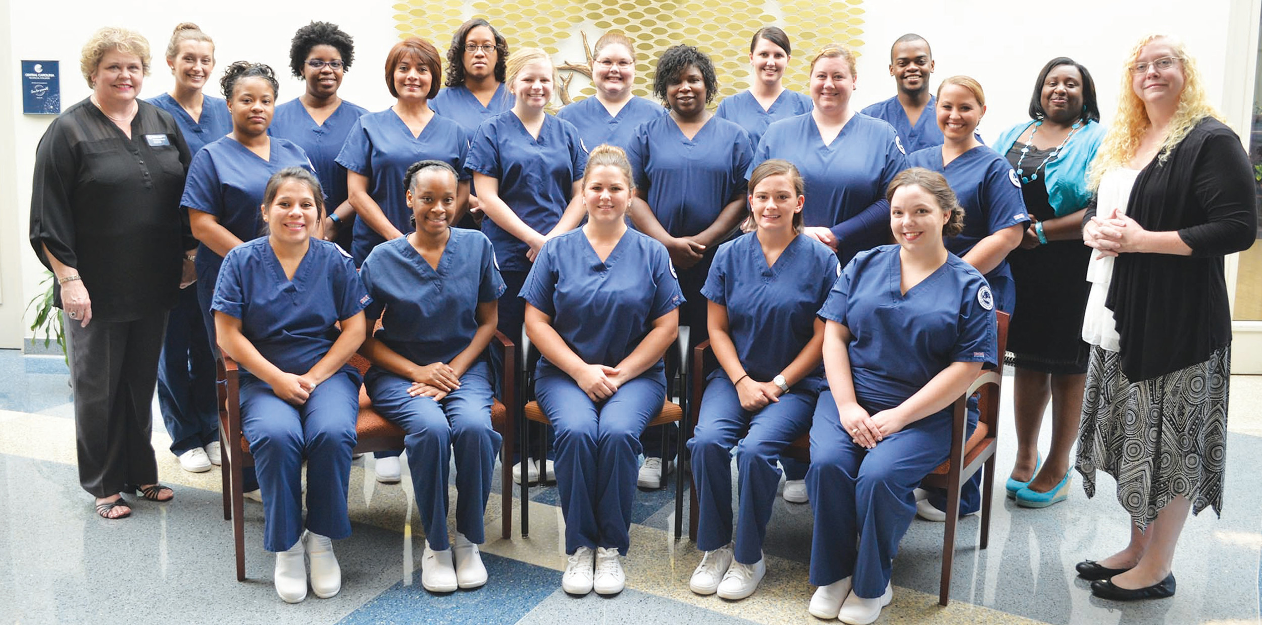PHOTOS PROVIDEDCentral Carolina Technical College pinned 18 medical assistants at a ceremony held on Aug. 1 at the Health Sciences Center.