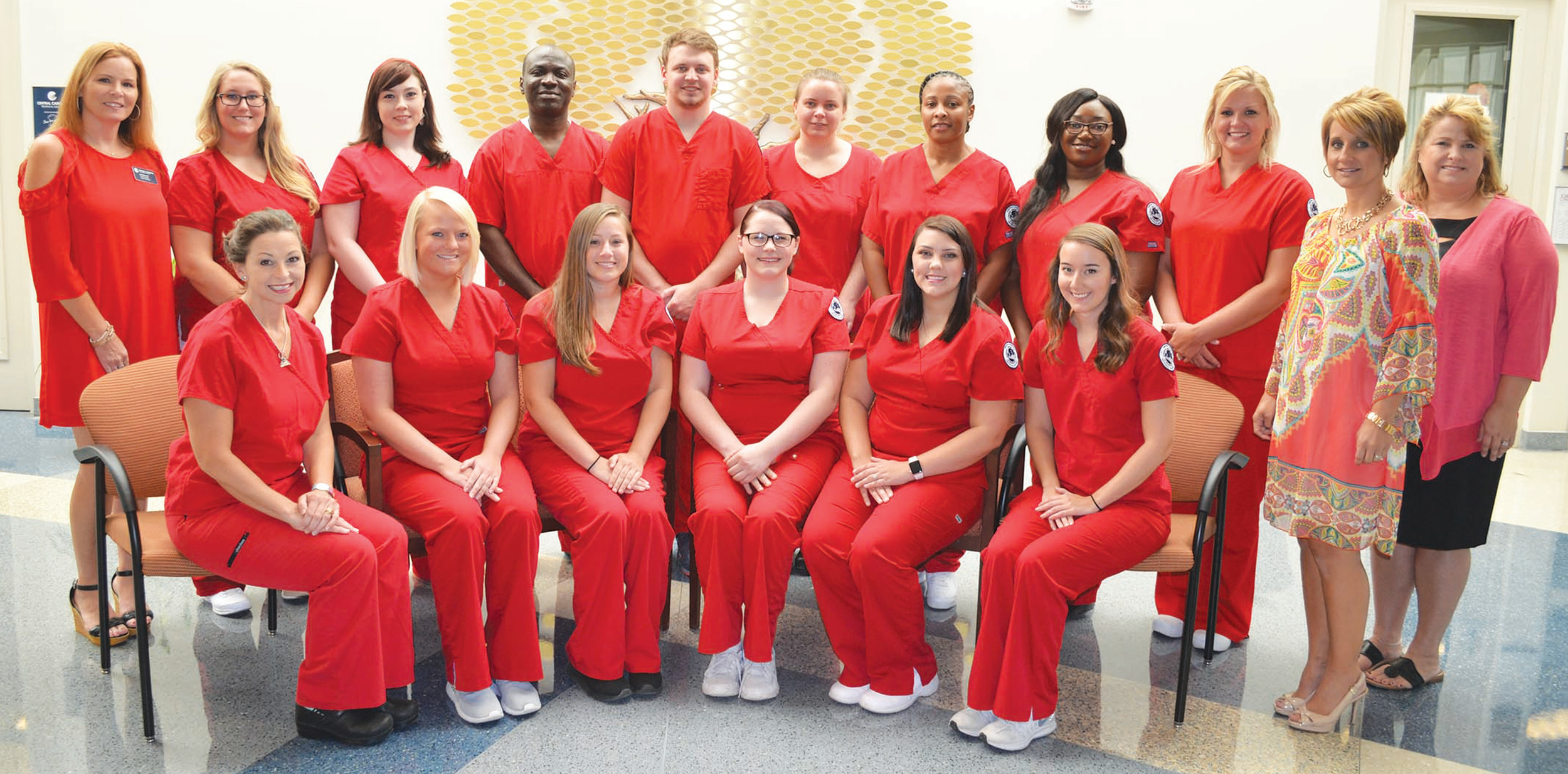 Central Carolina Technical College pinned 16 surgical technologists at a ceremony held on Aug. 1 at the Health Sciences Center.