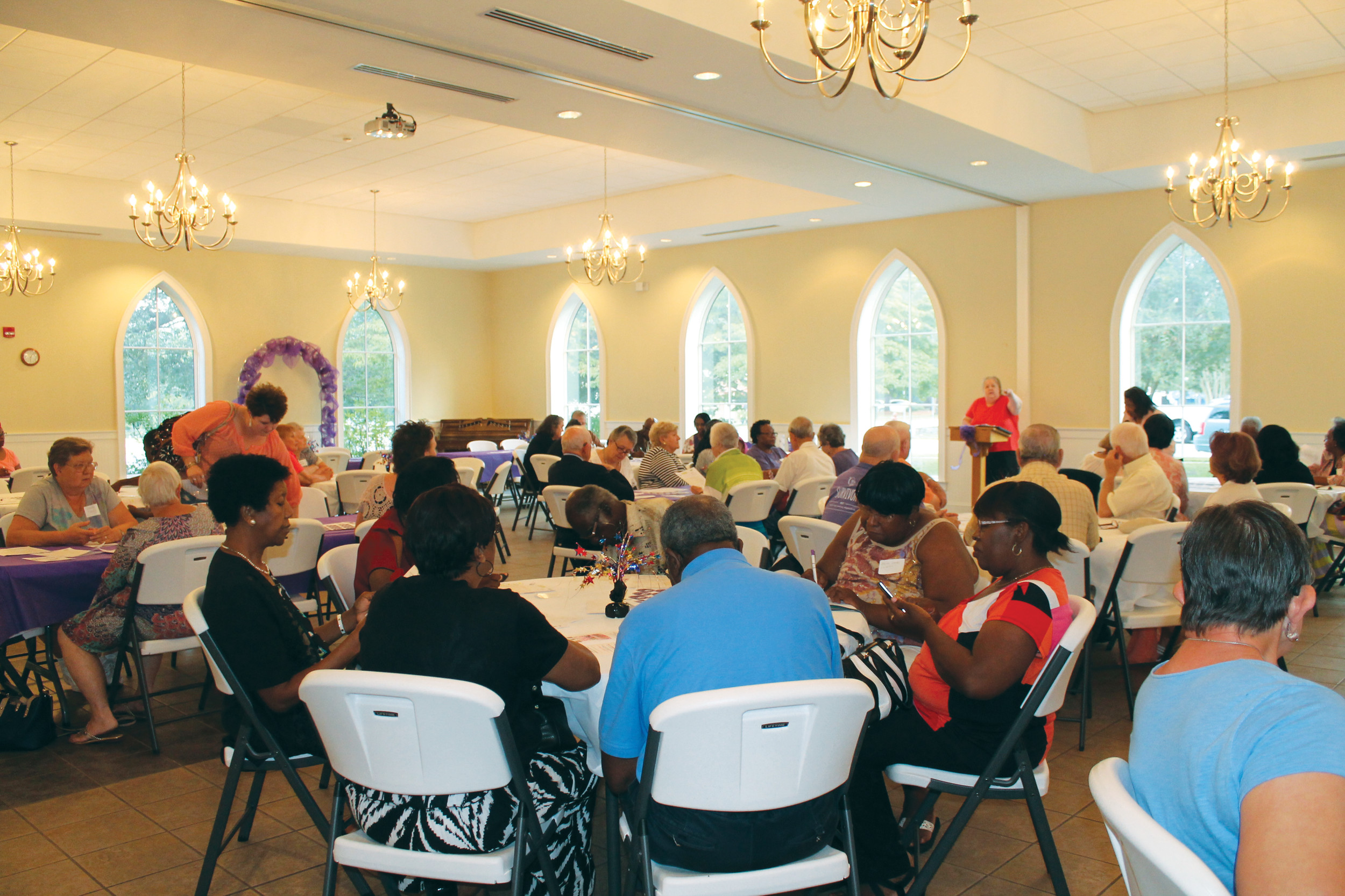 More than 100 cancer survivors, caregivers and guests attended the Celebrate Life Survivor Social held Aug. 31 at Manning United Methodist Church.
