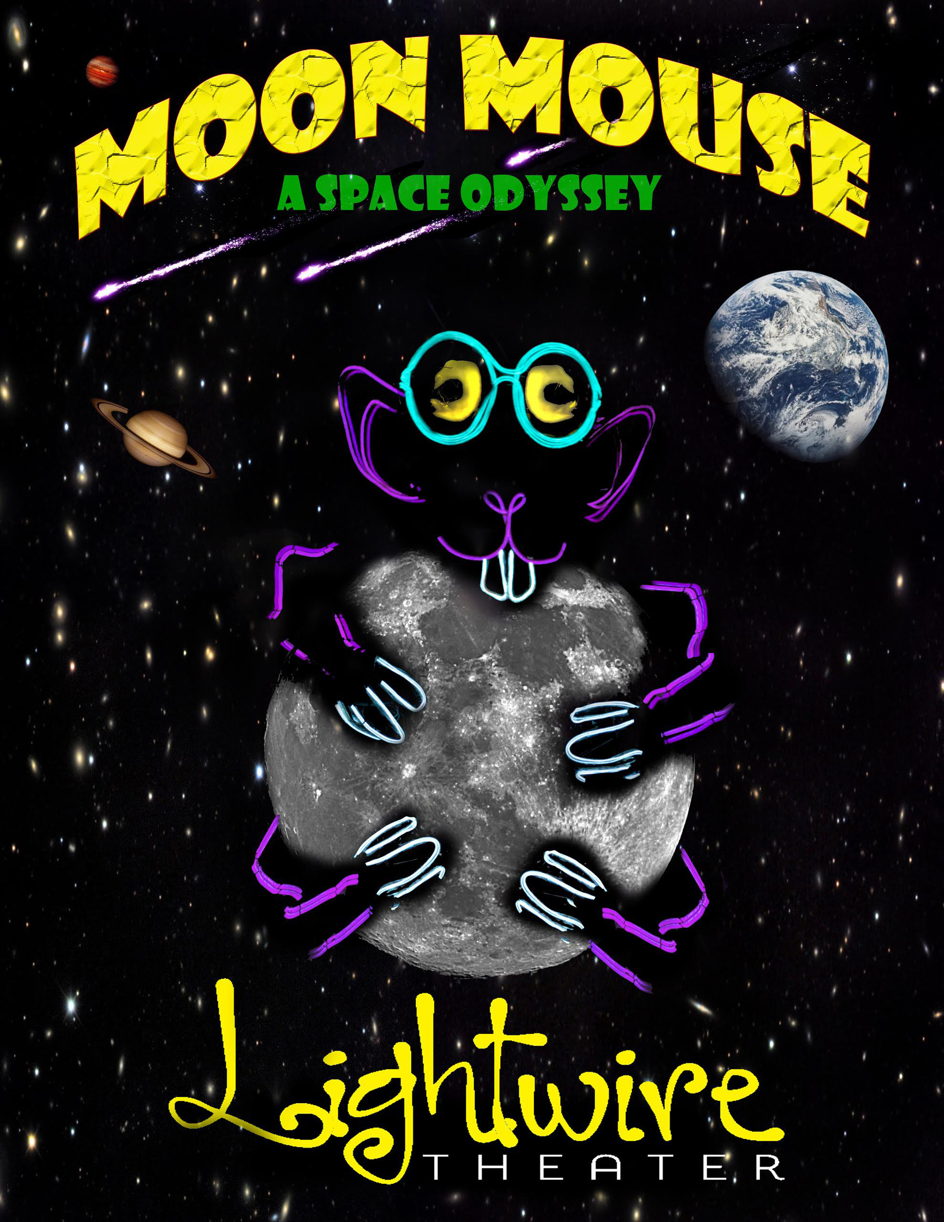 """Moon Mouse: A Space Odyssey"" will light up the Sumter Opera House with its glow-in-the-dark technology, theater and dance performance."