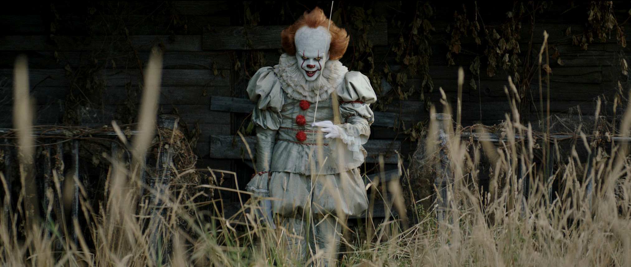 "Bill Skarsgard stars in a scene from ""It."""