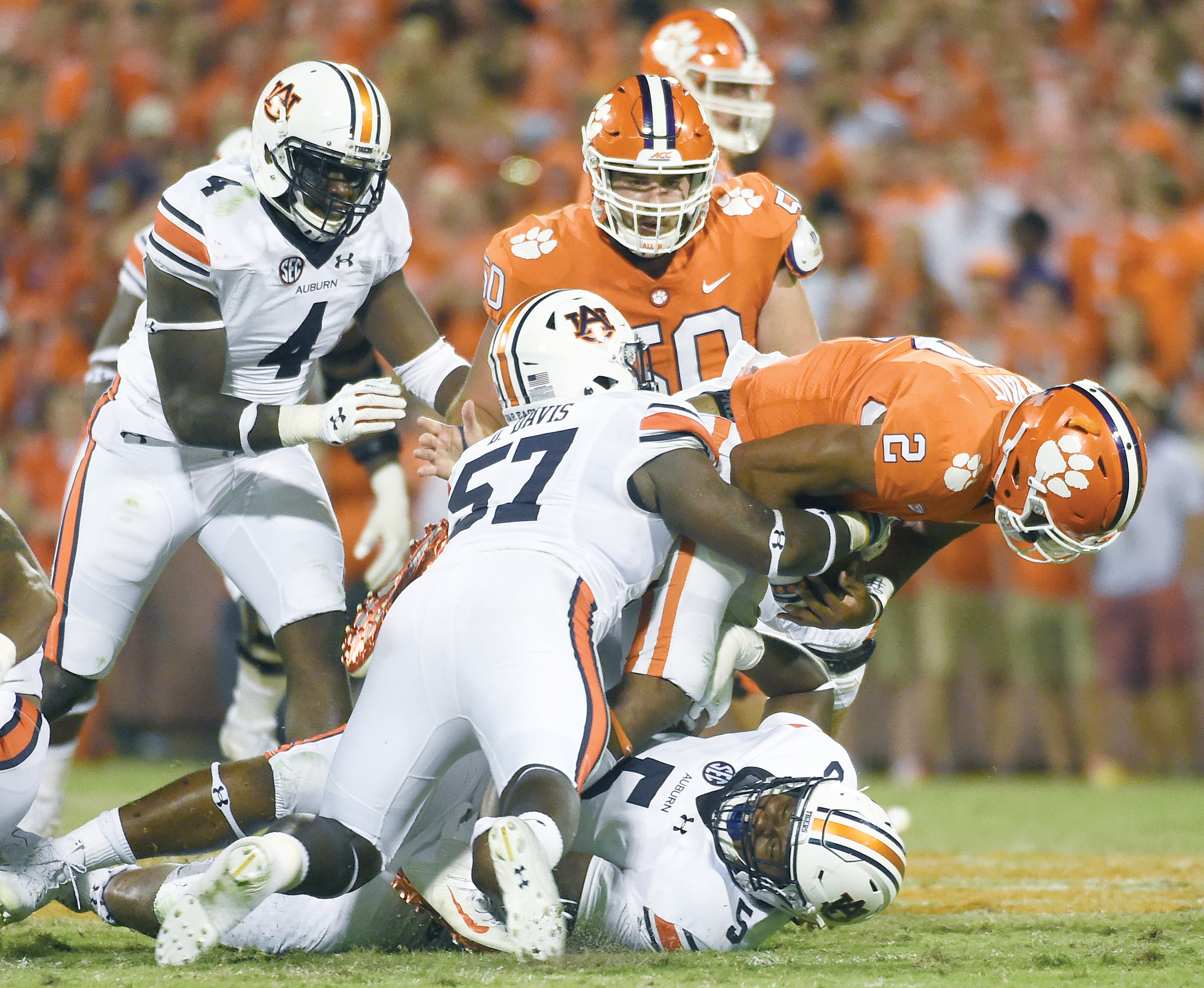 After scoring just 14 points against Auburn last week, Clemson quarterback Kelly Bryant (2) said the Tigers' offense will have to 'bring it' when they travel to Louisville on Saturday.