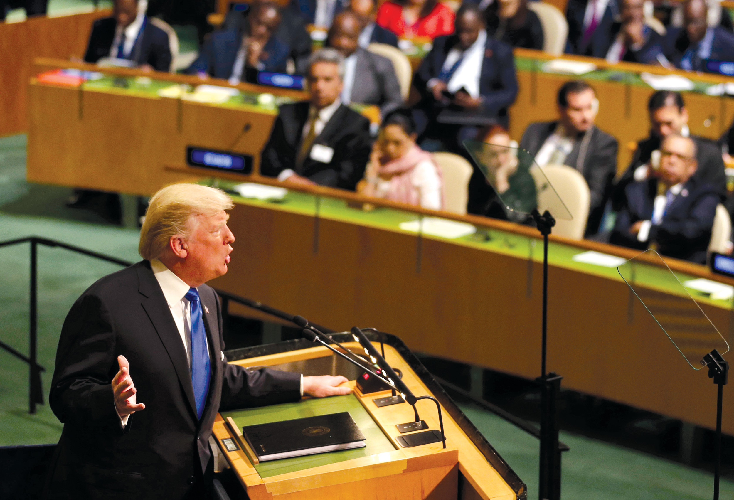 In debut United Nations  appearance, Trump says 'bureaucracy' stymieing potential