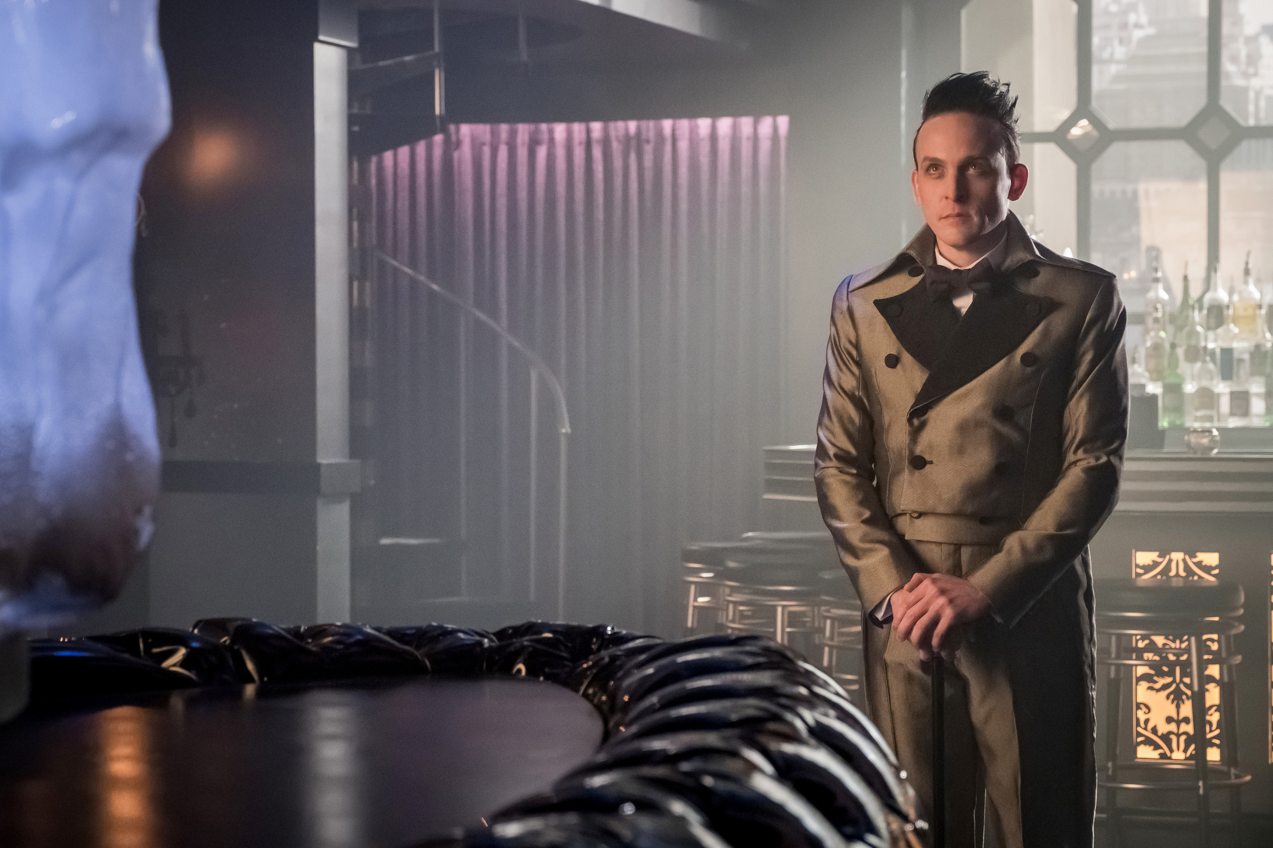 "Robin Lord Taylor stars as Oswald Cobblepot aka The Penguin in the ""Pax Penguina"" season four premiere episode of ""Gotham,"" airing at 8 p.m. today on FOX."