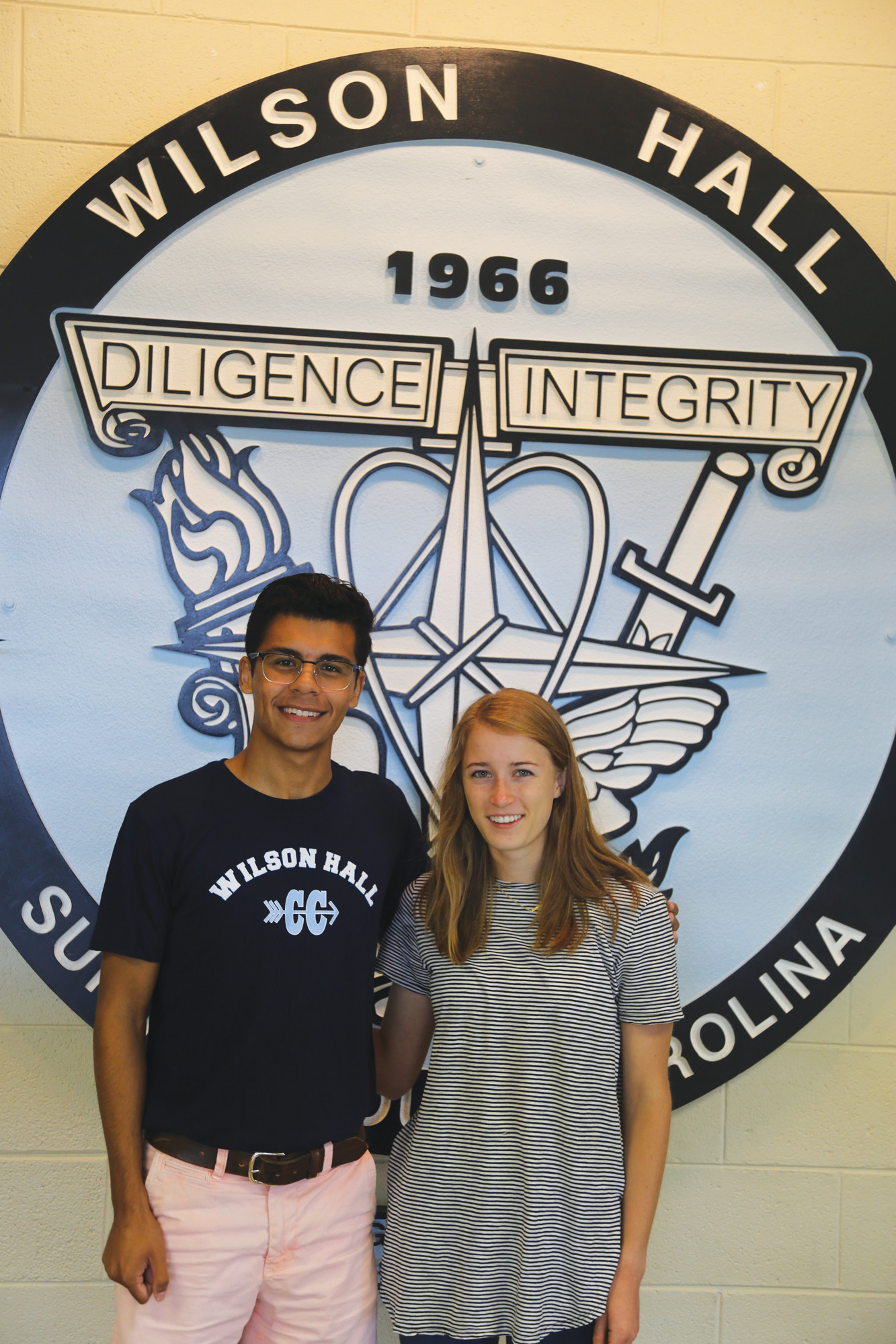 Wilson Hall seniors Matthew Tavarez, left, and Kirsten Fisher were recently selected as National Merit Scholarship semifinalists.