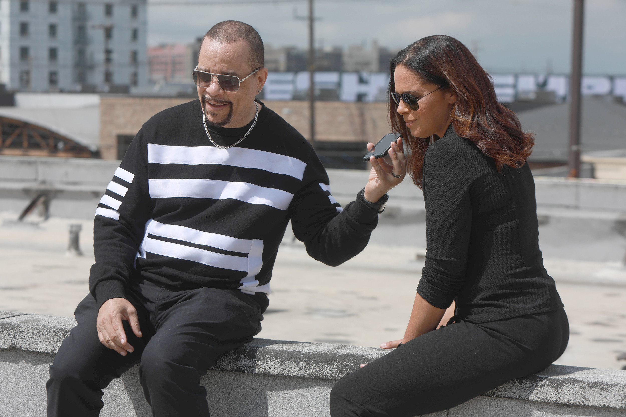 "Actor and rap music icon Ice-T, left, and journalist Soledad O'Brien host the two-hour investigative crime special ""Who Shot Biggie & Tupac?"" airing at 8 p.m. on Sunday on FOX."